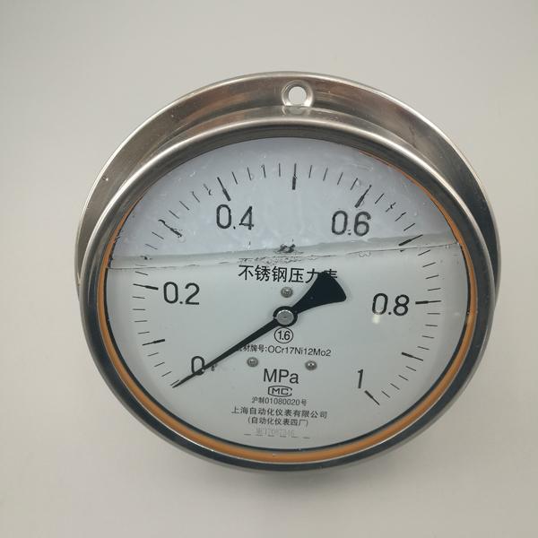 充油不銹鋼壓力表