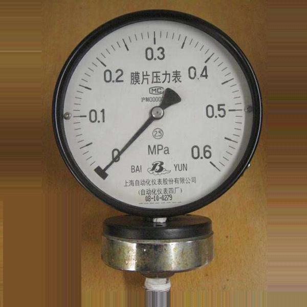 耐腐膜片壓力表